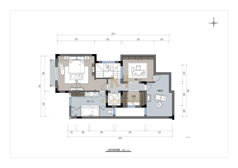 熙园山院三层平面图