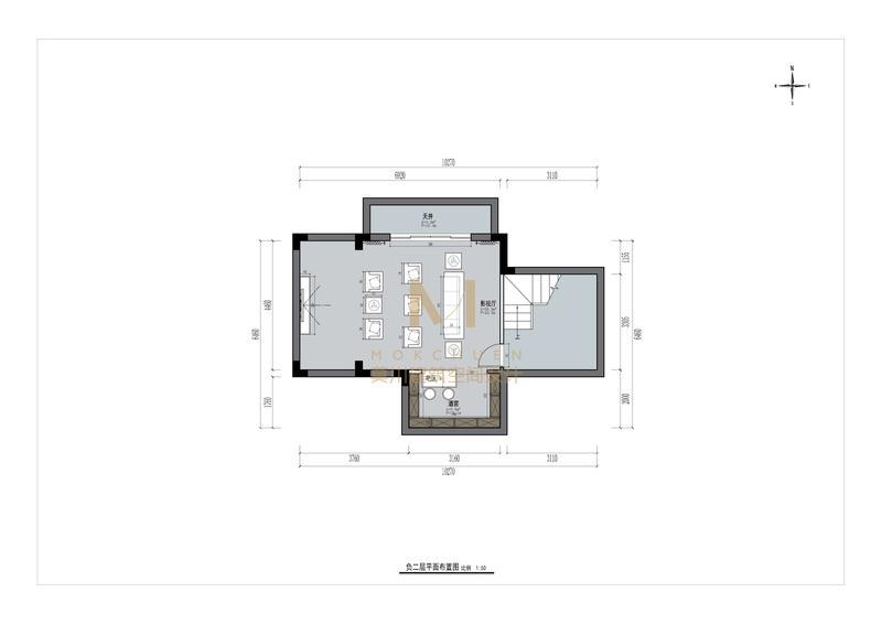 熙园山院负二楼平面图