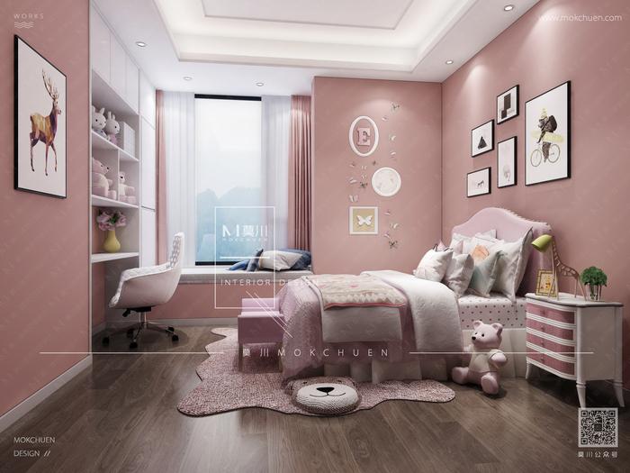 碧海云天现代130平米女儿房装修效果图