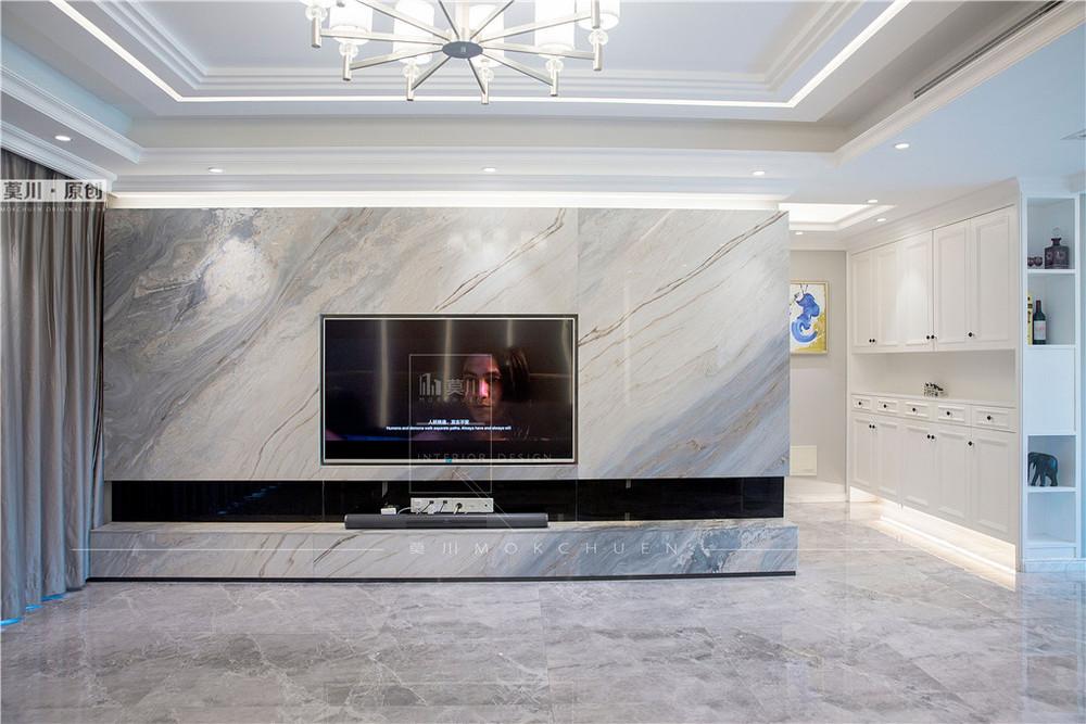 香域中央客厅装修完工实拍图